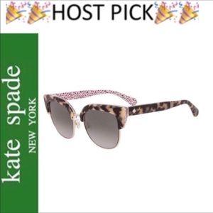 Kate Spade Pink Havana Karri Cateye Sunglasses